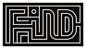 Labirinto cinzento criativo da palavra do achado-Eglish foto de stock royalty free