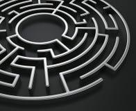 Labirinto circolare Immagini Stock Libere da Diritti