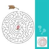 Labirinto com setas ilustração - jogo com resposta Imagens de Stock Royalty Free
