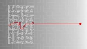 Labirinto com solução ilustração do vetor