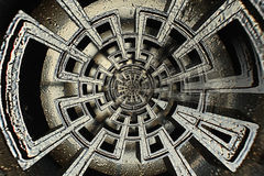 Labirinto complexo abstrato geométrico Imagens de Stock Royalty Free