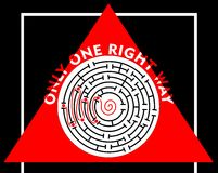 Labirinto con soltanto un giusto modo illustrazione vettoriale