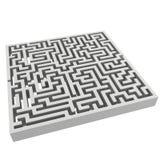 labirinto 3d Elemento di progettazione di forma del labirinto Fotografia Stock Libera da Diritti