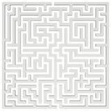 labirinto 3d Elemento do projeto da forma do labirinto Fotos de Stock Royalty Free
