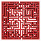 labirinto 3d Elemento do projeto da forma do labirinto Imagem de Stock