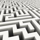 labirinto 3d infinito Imagens de Stock