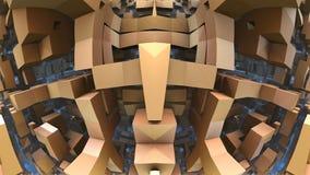 labirinto 3D o labirinto Fotografie Stock