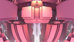 labirinto 3D o labirinto Fotografia Stock Libera da Diritti