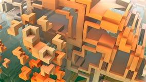 labirinto 3D ou labirinto Fotografia de Stock