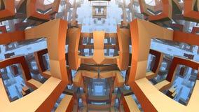 labirinto 3D ou labirinto Imagens de Stock