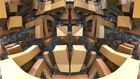 labirinto 3D ou labirinto Fotos de Stock