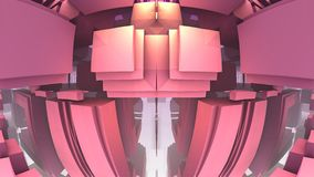 labirinto 3D ou labirinto Foto de Stock Royalty Free