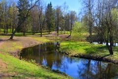 Labirinto da água em Gatchina St Petersburg, Rússia Imagens de Stock Royalty Free