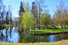 Labirinto da água em Gatchina St Petersburg, Rússia Fotografia de Stock
