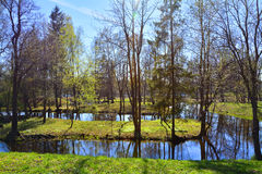 Labirinto da água em Gatchina St Petersburg, Rússia Foto de Stock