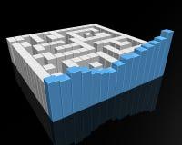 Labirinto da carta de barra Imagem de Stock Royalty Free