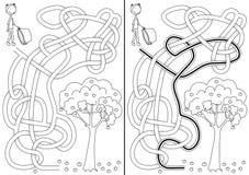 Labirinto da colheita de Apple ilustração royalty free