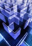 Labirinto da informação Foto de Stock Royalty Free