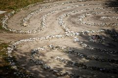 Labirinto da pedra e do escudo Foto de Stock