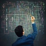 Labirinto da pergunta ilustração do vetor