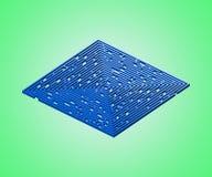 Labirinto da safira no fundo da esmeralda ilustração stock