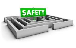 Labirinto da segurança Imagens de Stock