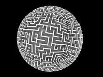 Labirinto dado forma globo Imagem de Stock Royalty Free