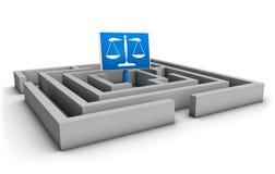 Labirinto de justiça Fotos de Stock