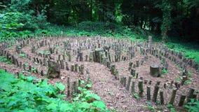 Labirinto de madeira imagens de stock royalty free