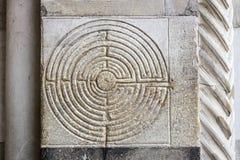Labirinto de pedra Imagem de Stock