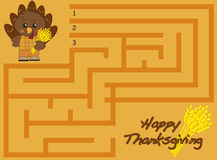 Labirinto de Thankgiving Foto de Stock Royalty Free