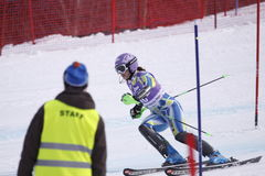 Labirinto de Tina - esquiador alpino esloveno Fotografia de Stock Royalty Free