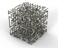 Labirinto dei cavi Fotografie Stock Libere da Diritti