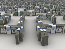 Labirinto dei dollari Fotografia Stock Libera da Diritti