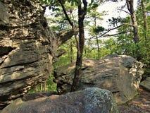 Labirinto dei massi al parco di stato d'attaccatura della roccia immagini stock
