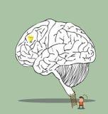 Labirinto del cervello all'idea segreta Immagini Stock Libere da Diritti