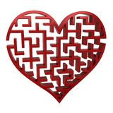 Labirinto del cuore Fotografia Stock