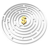 Labirinto del dollaro Immagini Stock