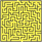 Labirinto del quadrato nero (20x20) Fotografia Stock