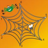 Labirinto del ragno Immagini Stock