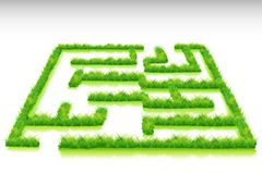 Labirinto dell'erba Fotografia Stock