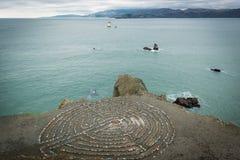 Labirinto dell'estremità del ` s della terra di San Francisco Fotografie Stock Libere da Diritti
