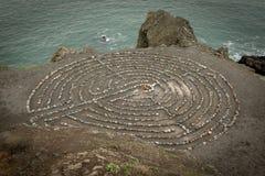 Labirinto dell'estremità del ` s della terra di San Francisco Immagine Stock Libera da Diritti