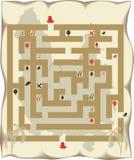 Labirinto dell'isola del pirata Immagini Stock Libere da Diritti