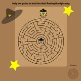 Labirinto della polizia Fotografia Stock