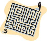 Labirinto di affari Immagini Stock Libere da Diritti