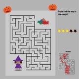 Labirinto di Candy per i bambini Immagine Stock
