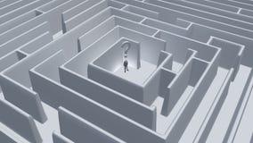Labirinto di domanda Immagine Stock