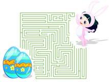 Labirinto di Pasqua Immagini Stock Libere da Diritti