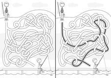 Labirinto di pesca illustrazione di stock